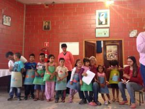 Apresentação dos alunos da Evangelização